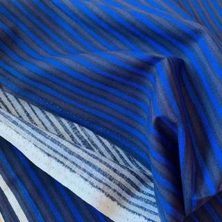 マリメッコ(marimekko)のレア★日本未発売 はぎれ 生地 piccolo 青 こげ茶 40×70cm 布(生地/糸)