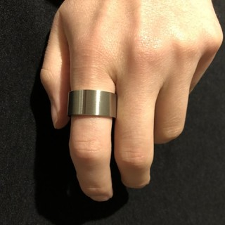 メンズ 極太平打リング ワイドリング 18 サイズ 他サイズ有り(リング(指輪))