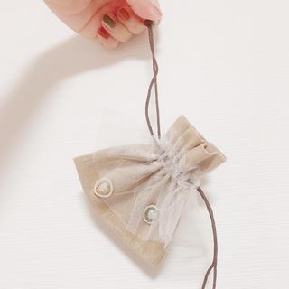 ビーズ刺繍【ちび巾着ポーチ】(ポーチ)