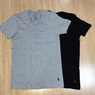 ラルフローレン(Ralph Lauren)のラルフローレン Vネック Tシャツ ブラック×グレー(Tシャツ/カットソー(半袖/袖なし))