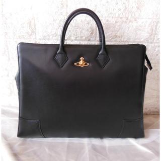 ヴィヴィアンウエストウッド(Vivienne Westwood)のヴィヴィアンウエストウッド レザー バッグビジネス 黒 オーブ付(ハンドバッグ)