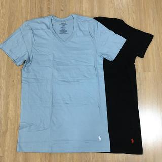 ラルフローレン(Ralph Lauren)のラルフローレン Vネック Tシャツ ブラック×スカイブルー(Tシャツ/カットソー(半袖/袖なし))