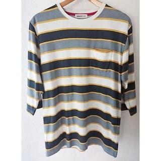 ブラウニー(BROWNY)のブラウニー【BROWNY】ボーダー Tシャツ 七分袖 Mサイズ(Tシャツ/カットソー(七分/長袖))