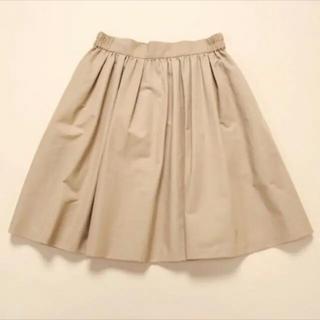 ティアラ(tiara)のTiara ティアラ フレアスカート ベージュ キャメル M 3(ひざ丈スカート)