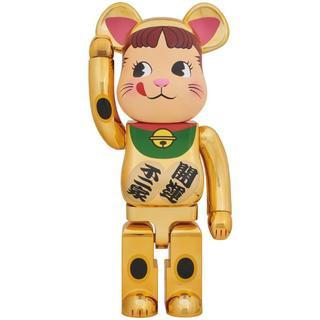 新品未使用 BE@RBRICK 招き猫 ペコちゃん 金メッキ 1000%(その他)