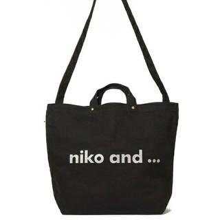niko and... - 新品☆ニコアンド トートバッグ 黒