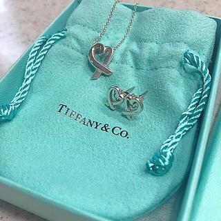 Tiffany & Co. - 【美品】Tiffany パロマピカソ ラビングハート ネックレス ピアス セット