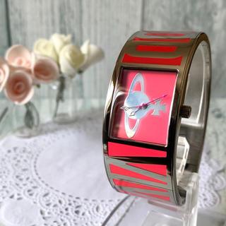 ヴィヴィアンウエストウッド(Vivienne Westwood)の【電池交換済み】 vivienne 腕時計 ボンドウォッチ ピンク バングル(腕時計)