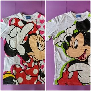 Disney - ミッキー&ミニー ペアTシャツ