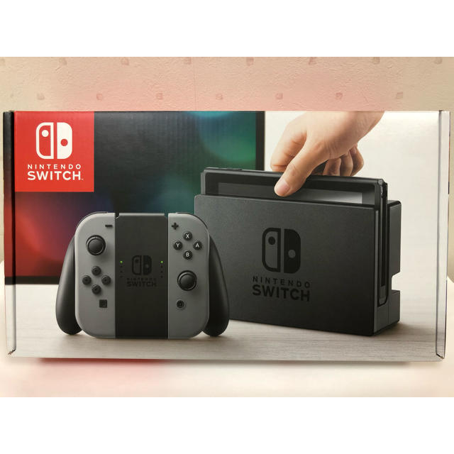 Nintendo Switch(ニンテンドースイッチ)の【新品】Nintendo switch ニンテンドースイッチ グレー エンタメ/ホビーのゲームソフト/ゲーム機本体(家庭用ゲーム機本体)の商品写真