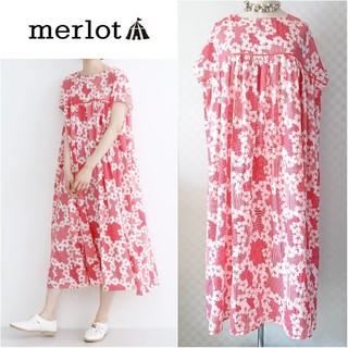 merlot - merlot*メルロー【美品】花柄ワンピース