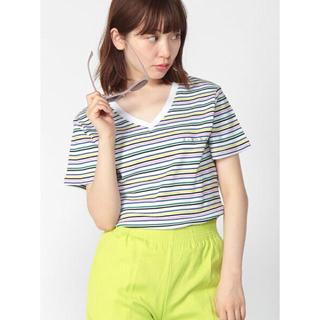 エックスガール(X-girl)のXGBS MLT STRIPE V-NE(Tシャツ(半袖/袖なし))