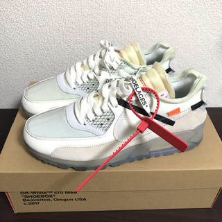 OFF-WHITE - nike air max 90 offwhite 25.5cm 美品