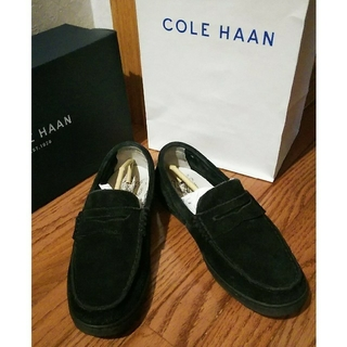 コールハーン(Cole Haan)のコールハーン ローファー スエード ブラック 25cm(ドレス/ビジネス)