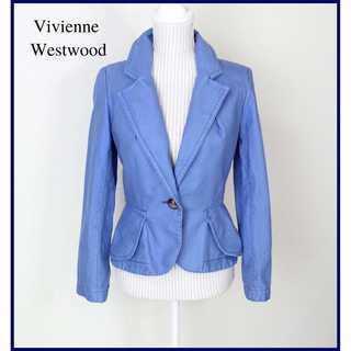 ヴィヴィアンウエストウッド(Vivienne Westwood)のヴィヴィアンウエストウッド★テーラードジャケット 2 ライトブルー 美シルエット(テーラードジャケット)