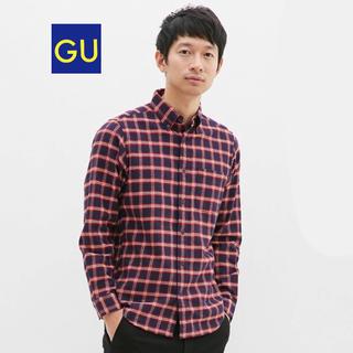 GU - GU フランネルチェックシャツ(長袖)K