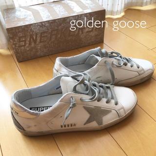 ゴールデングース(GOLDEN GOOSE)の【ほぼ未使用】golden goose  レザースニーカー 白(スニーカー)