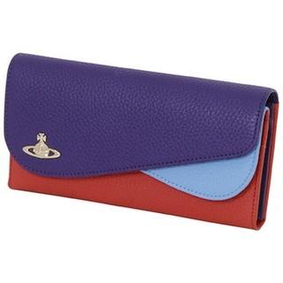 ヴィヴィアンウエストウッド(Vivienne Westwood)のヴィヴィアンウエストウッド 長財布 ダブルフラップ ぶるう未使用  (財布)