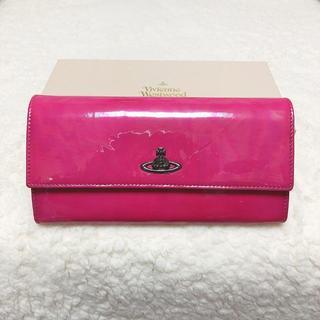ヴィヴィアンウエストウッド(Vivienne Westwood)の新品♡Vivienne Westwood エナメル 大容量フラップ長財布 ピンク(財布)