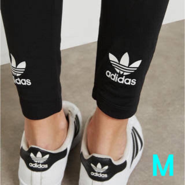 adidas(アディダス)のアディダスオリジナルス トレフォイル ロゴ レギンス M 新品未使用品 レディースのレッグウェア(レギンス/スパッツ)の商品写真