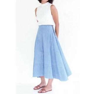 MADISONBLUE - MADISONBLUEマディソンブルー ロングスカート シャンブレー 美品
