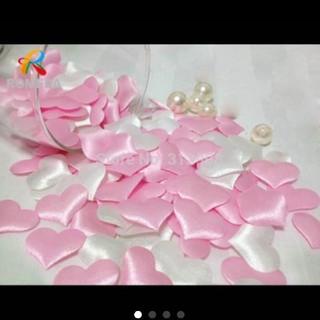 《未使用》海外 ハート 立体デコレーション ピンク  20個(ウェディングドレス)