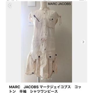 マークジェイコブス(MARC JACOBS)のMARC JACOBS マークジェイコブス  コットン 半袖  シャツワンピース(ひざ丈ワンピース)