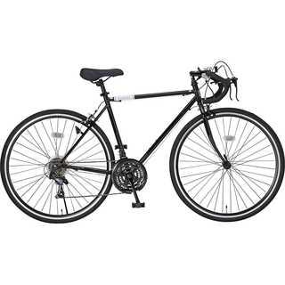 【送料無料】ロードバイク 700C シマノ21段変速 ブラック