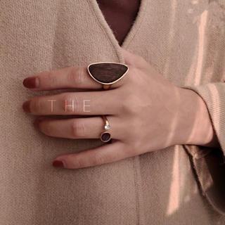 トゥデイフル(TODAYFUL)のwood ring stone ring ウッドリング ストーンリング(リング(指輪))