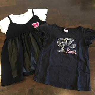 バービー(Barbie)のバービー Tシャツ 2枚セット 120(Tシャツ/カットソー)
