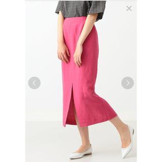 Demi Luxe BEAMS リネンレーヨン タイトスカート