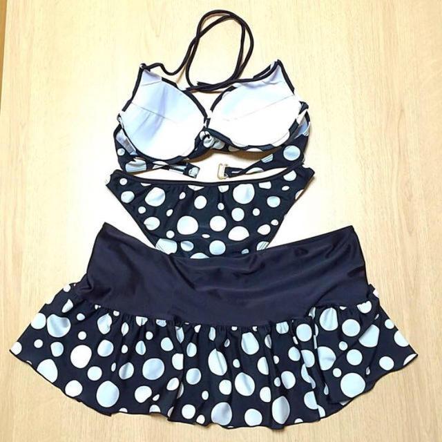 黒/白  水玉  ビキニ  9M レディースの水着/浴衣(水着)の商品写真