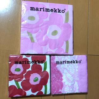 マリメッコ(marimekko)の新品未開封 ☆ ペーパーナプキン  マリメッコ   3パック(その他)