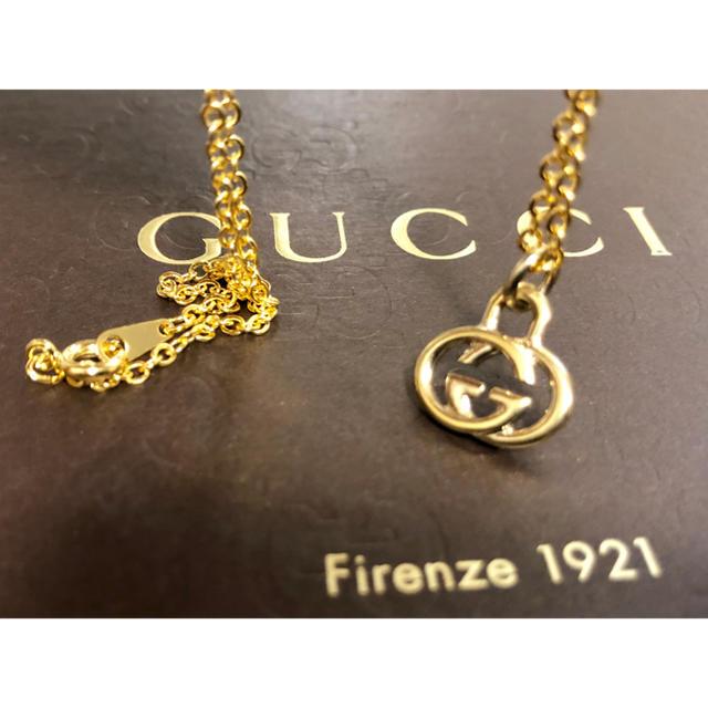 Gucci(グッチ)の 美品 正規品 グッチ GUCCI チャーム トップ ネックレス  ゴールド  メンズのアクセサリー(ネックレス)の商品写真