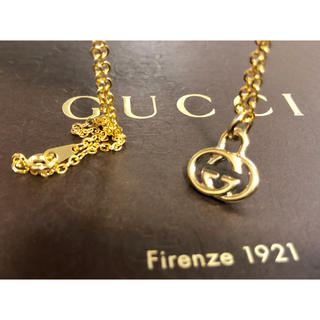 Gucci -  美品 正規品 グッチ GUCCI チャーム トップ ネックレス  ゴールド