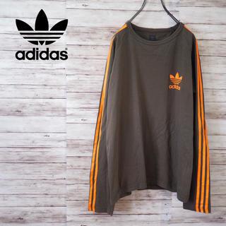 adidas - Adidas Originals トレフォイル×スリーストライプ ロンT