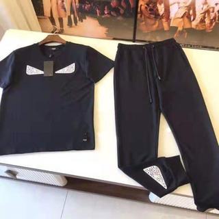 フェンディ(FENDI)の正規品 FENDI 2点セット 半袖 トラックパンツ  モンスター(Tシャツ/カットソー(半袖/袖なし))