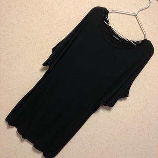 マリメッコ(marimekko)のマリメッコ チュニック ワンピース 黒 ブラック Tシャツ(チュニック)