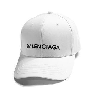 バレンシアガ(Balenciaga)の【即購入可能】Balenciaga ロゴ キャップ 帽子 白 ホワイト 8/18(キャップ)