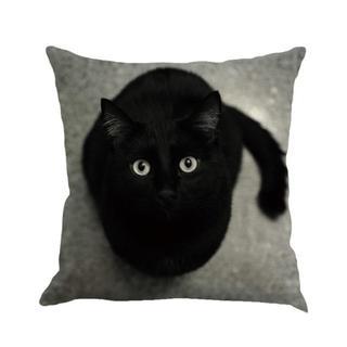 黒猫 くろねこ クッションカバー 新品未使用品 送料無料 007