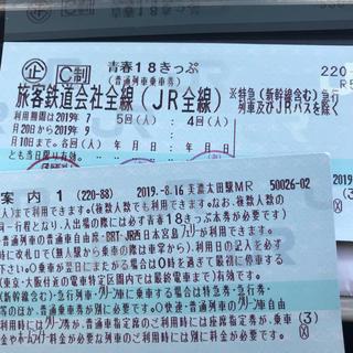 ジェイアール(JR)の青春18切符 2回分(鉄道乗車券)