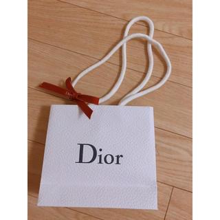 ディオール(Dior)のDior ショップ袋♡ミニサイズ、特別ロゴ入りリボン付き(ショップ袋)