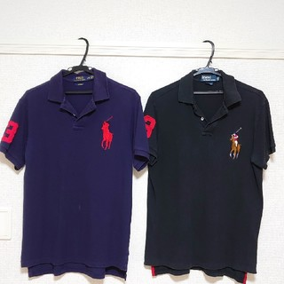 POLO RALPH LAUREN - ラルフローレンビッグポニー半袖(黒・紺)二枚セット