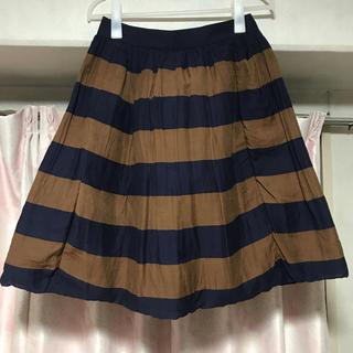 BURBERRY - 新品 コットンシルク 台形スカート
