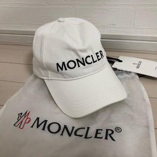 MONCLER - 【新品未使用】モンクレール ロゴ キャップ ホワイト