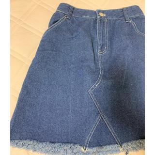 ウィゴー(WEGO)のWEGO デニムスカート(ひざ丈スカート)
