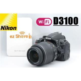 Nikon - HD動画撮影もOK♪ 新品Wi-Fi SDカード付♪ NIKON D3100