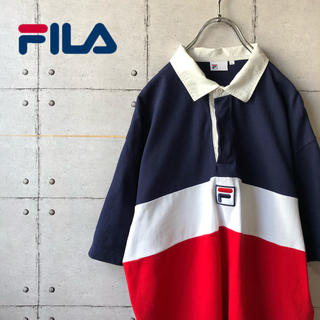 FILA - 【激レア】 FILA フィラ トリコカラー ビッグサイズ 半袖 ラガーシャツ