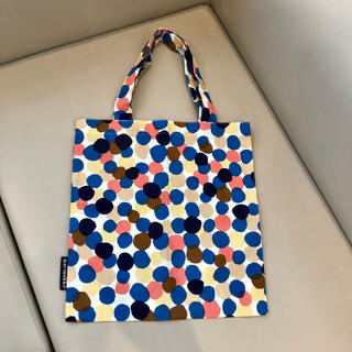 marimekko - 【直営店購入】marimekko マリメッコ マルチドット コットントートバッグ