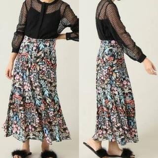 イエナ(IENA)の《IENA》花柄 フラワー フレア マキシ スカート 40(ロングスカート)